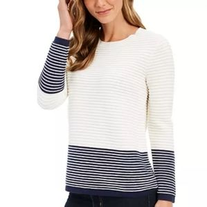 Charter Club colorblocked ottoman sweater